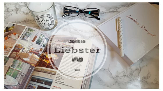 London Damsel is Liebster Award Winner
