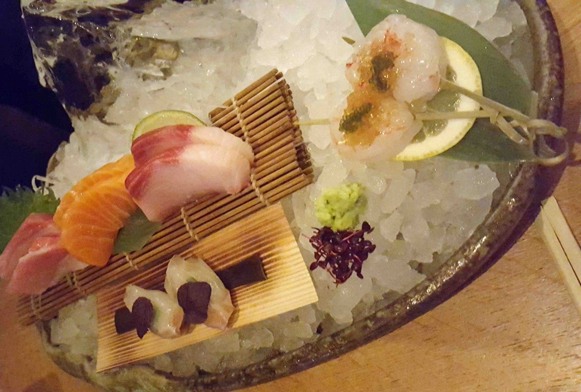Dinner at ROKA - Sashimi Selection