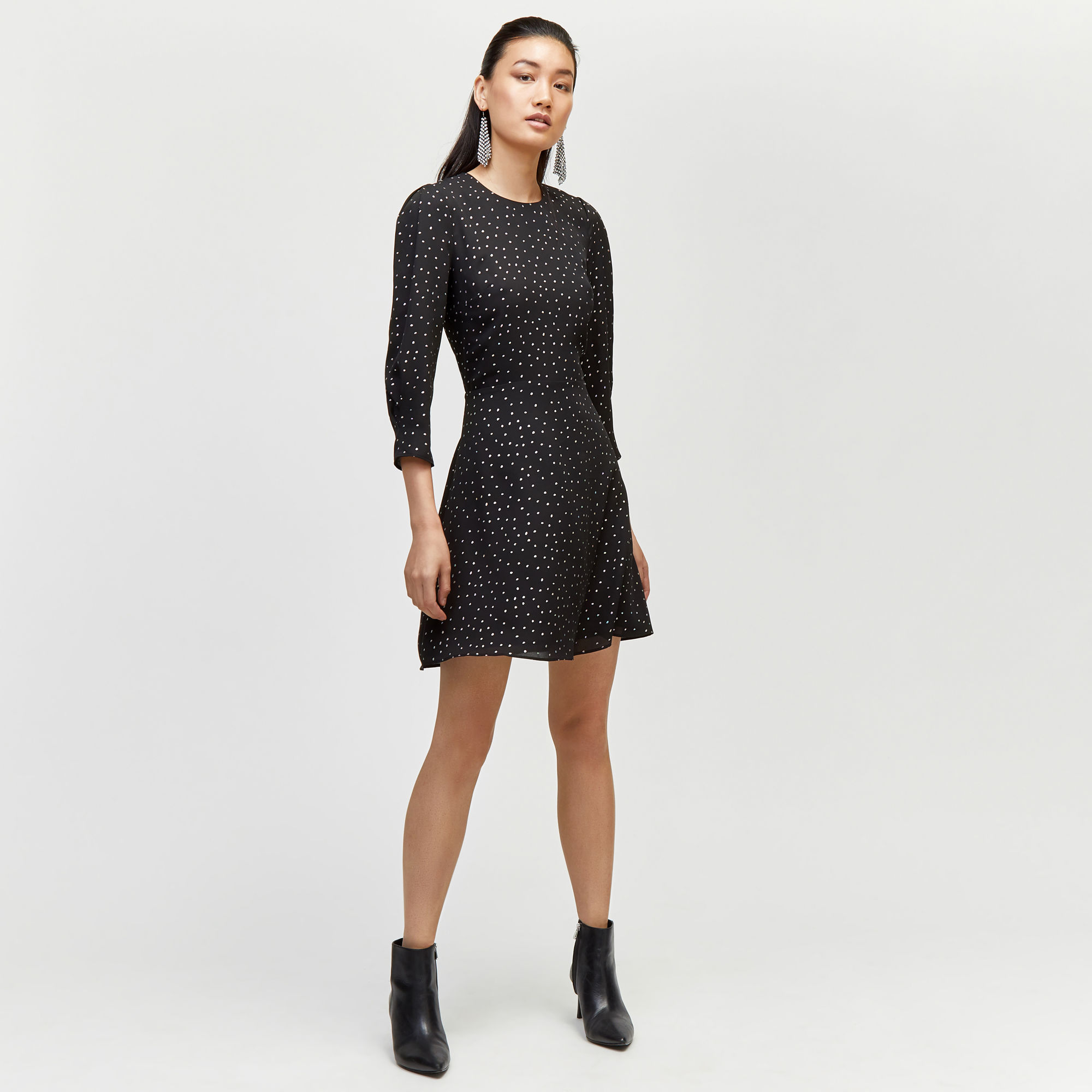 Warehouse Irridiscent Spot Mini Dress
