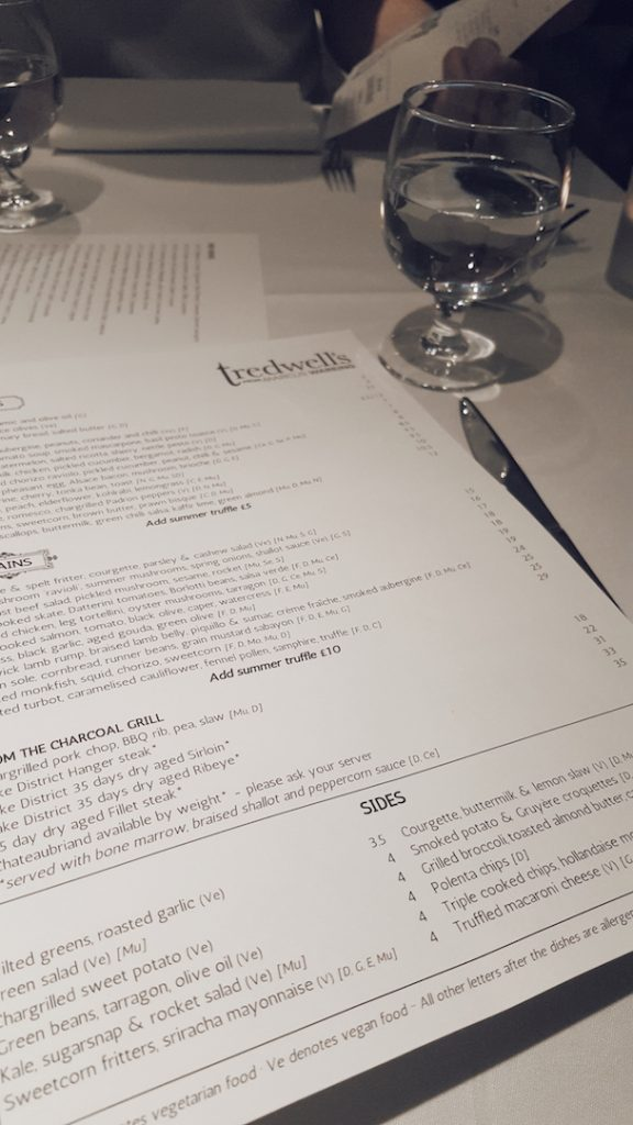 Tredwell's Restaurant Review
