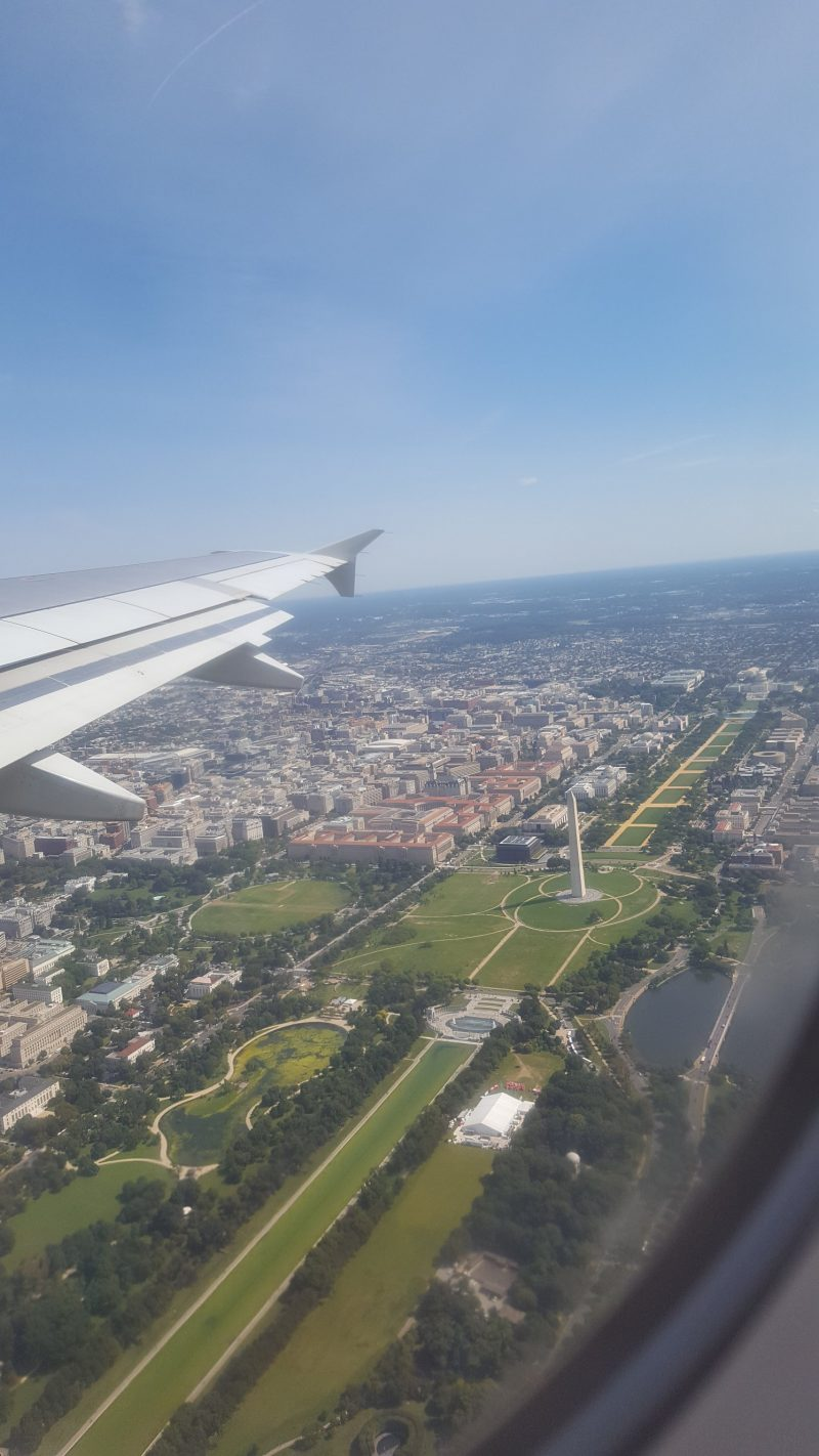 Washington DC from the air